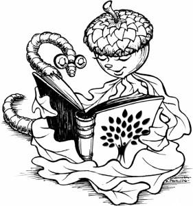bookworm illustration