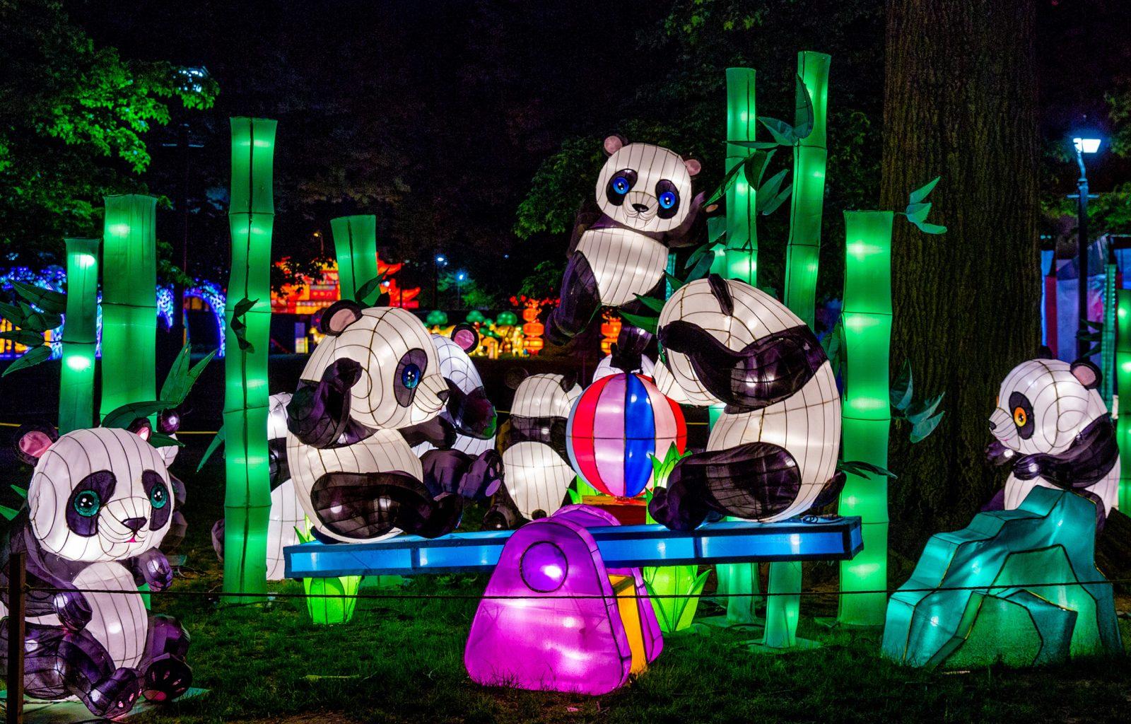 Moonlight Forest Panda Lanterns